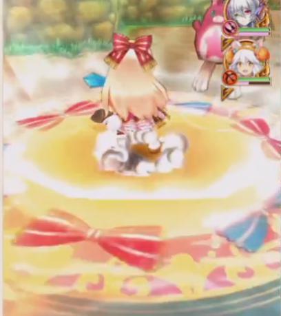 【白猫】アリエッタ×アーモンドピーク(魔)アクションスキル1a白黒グリココラボ