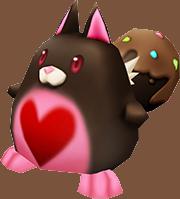 【白猫】チョコレートたぬき