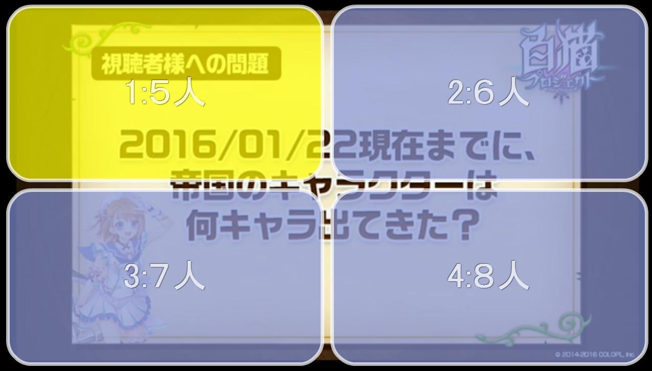 【白猫】ニコ生20162月22日_さいかわ猫決定戦201642