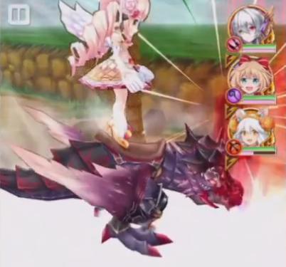 【白猫】ルシエラ×カプリコ(竜)アクションスキル1a白黒グリココラボ