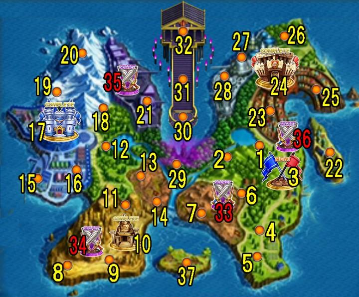 【白猫】「Soul-of-Knights(ソウル-オブ-ナイツ)~託されし者たち~」2周年記念イベントマップ地図