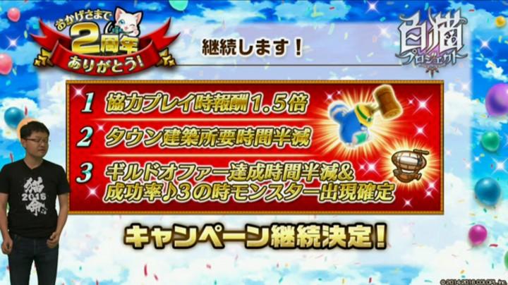 【白猫】2周年記念ニコ生最新情報4