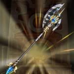 【白猫】白銀の槍斧_真・シルヴァリージャスティス武器スキル_英雄クライヴモチーフ餅武器a