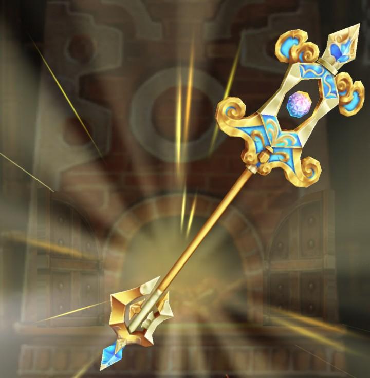 【白猫】エターナル・ロア_真・魔杖エターナル・ロア:リルムモチーフ餅武器