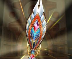 【白猫】極彩筆弓_真・筆中烙印弓:王冠ユキムラモチーフ餅武器
